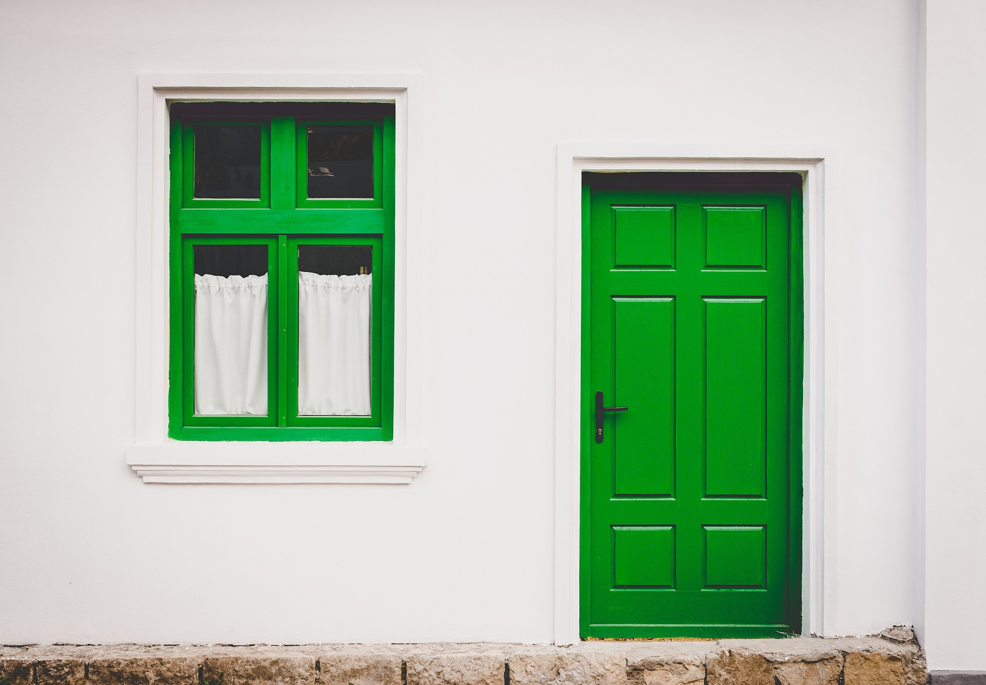 House with Green Door